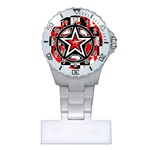 Star Checkerboard Splatter Plastic Nurses Watch