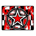 Star Checkerboard Splatter Double Sided Fleece Blanket (Small)