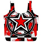 Star Checkerboard Splatter Full Print Recycle Bag (XL)