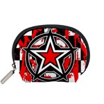 Star Checkerboard Splatter Accessory Pouch (Small)