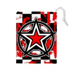 Star Checkerboard Splatter Drawstring Pouch (Large)