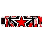 Star Checkerboard Splatter Satin Scarf (Oblong)