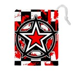 Star Checkerboard Splatter Drawstring Pouch (XL)