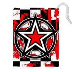 Star Checkerboard Splatter Drawstring Pouch (XXL)