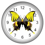 Butterfly M2 Wall Clock (Silver)