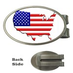 American Map Flag Money Clip (Oval)