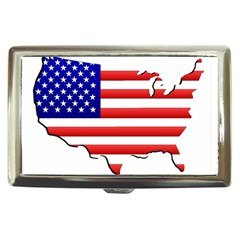 American Map Flag Cigarette Money Case from ArtsNow.com Front