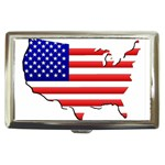 American Map Flag Cigarette Money Case