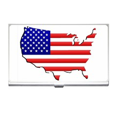 American Map Flag Business Card Holder from ArtsNow.com Front