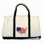 American Map Flag Two Tone Tote Bag
