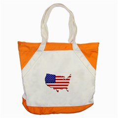 American Map Flag Accent Tote Bag from ArtsNow.com Front