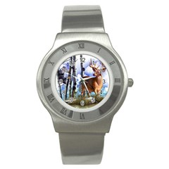 Deer Hunter Stainless Steel Watch from ArtsNow.com Front