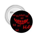 Demonic Laugh, Spooky red teeth monster in dark, Horror theme 2.25  Buttons