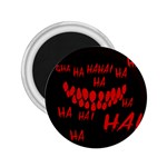 Demonic Laugh, Spooky red teeth monster in dark, Horror theme 2.25  Magnets