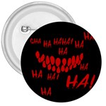 Demonic Laugh, Spooky red teeth monster in dark, Horror theme 3  Buttons