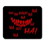 Demonic Laugh, Spooky red teeth monster in dark, Horror theme Large Mousepads