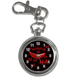 Demonic Laugh, Spooky red teeth monster in dark, Horror theme Key Chain Watches