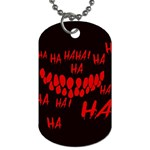 Demonic Laugh, Spooky red teeth monster in dark, Horror theme Dog Tag (One Side)