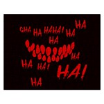 Demonic Laugh, Spooky red teeth monster in dark, Horror theme Rectangular Jigsaw Puzzl