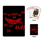 Demonic Laugh, Spooky red teeth monster in dark, Horror theme Playing Cards Single Design (Rectangle)