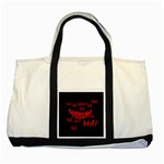 Demonic Laugh, Spooky red teeth monster in dark, Horror theme Two Tone Tote Bag