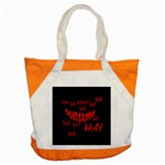 Demonic Laugh, Spooky red teeth monster in dark, Horror theme Accent Tote Bag