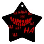 Demonic Laugh, Spooky red teeth monster in dark, Horror theme Star Ornament (Two Sides)