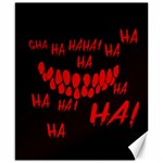 Demonic Laugh, Spooky red teeth monster in dark, Horror theme Canvas 8  x 10