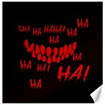 Demonic Laugh, Spooky red teeth monster in dark, Horror theme Canvas 12  x 12