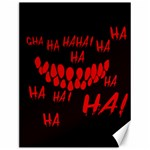 Demonic Laugh, Spooky red teeth monster in dark, Horror theme Canvas 12  x 16