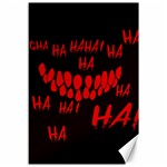 Demonic Laugh, Spooky red teeth monster in dark, Horror theme Canvas 12  x 18