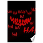 Demonic Laugh, Spooky red teeth monster in dark, Horror theme Canvas 24  x 36