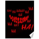 Demonic Laugh, Spooky red teeth monster in dark, Horror theme Canvas 36  x 48