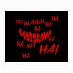 Demonic Laugh, Spooky red teeth monster in dark, Horror theme Small Glasses Cloth (2 Sides)