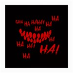 Demonic Laugh, Spooky red teeth monster in dark, Horror theme Medium Glasses Cloth (2 Sides)