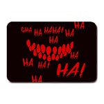 Demonic Laugh, Spooky red teeth monster in dark, Horror theme Plate Mats