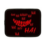 Demonic Laugh, Spooky red teeth monster in dark, Horror theme Netbook Case (Small)