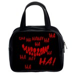 Demonic Laugh, Spooky red teeth monster in dark, Horror theme Classic Handbag (Two Sides)