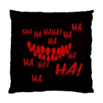 Demonic Laugh, Spooky red teeth monster in dark, Horror theme Standard Cushion Case (Two Sides)