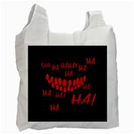 Demonic Laugh, Spooky red teeth monster in dark, Horror theme Recycle Bag (One Side)