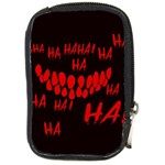 Demonic Laugh, Spooky red teeth monster in dark, Horror theme Compact Camera Leather Case