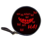 Demonic Laugh, Spooky red teeth monster in dark, Horror theme Classic 20-CD Wallets