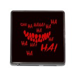 Demonic Laugh, Spooky red teeth monster in dark, Horror theme Memory Card Reader (Square 5 Slot)