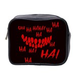 Demonic Laugh, Spooky red teeth monster in dark, Horror theme Mini Toiletries Bag (Two Sides)