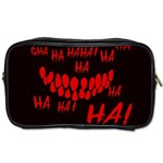 Demonic Laugh, Spooky red teeth monster in dark, Horror theme Toiletries Bag (Two Sides)