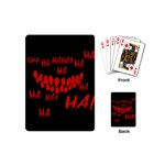 Demonic Laugh, Spooky red teeth monster in dark, Horror theme Playing Cards Single Design (Mini)