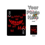 Demonic Laugh, Spooky red teeth monster in dark, Horror theme Playing Cards 54 Designs (Mini)