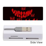 Demonic Laugh, Spooky red teeth monster in dark, Horror theme Memory Card Reader (Stick)