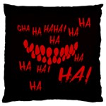 Demonic Laugh, Spooky red teeth monster in dark, Horror theme Large Cushion Case (Two Sides)
