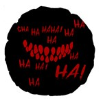 Demonic Laugh, Spooky red teeth monster in dark, Horror theme Large 18  Premium Round Cushions